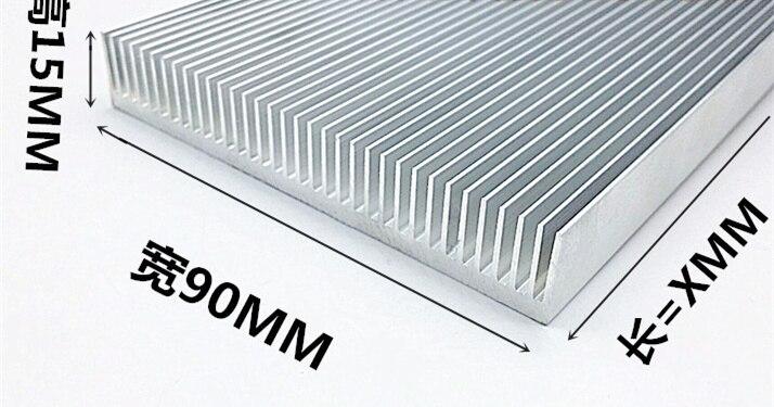 Rapide Bateau Libre Haute puissance aluminium dissipateur de chaleur Dense dent radiateur 90*15*100 MM électronique de refroidissement plaque en aluminium bar