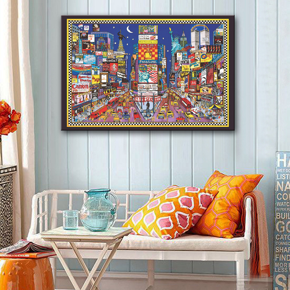 Hd oil painting fantastic city decoration paiting home for Home decoration images hd