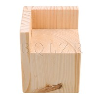 7x7CM Slot L Shaped Wood Furniture Lifter Bed Sofa Table Riser Add 8cm BQLZR