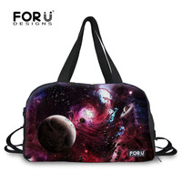 FORUDESIGNS Planet and Snowflake Variety Pattern Sports Gym Bags for Women Fitness Yoga Bags Storage Shoulder Crossbody Bag Tote