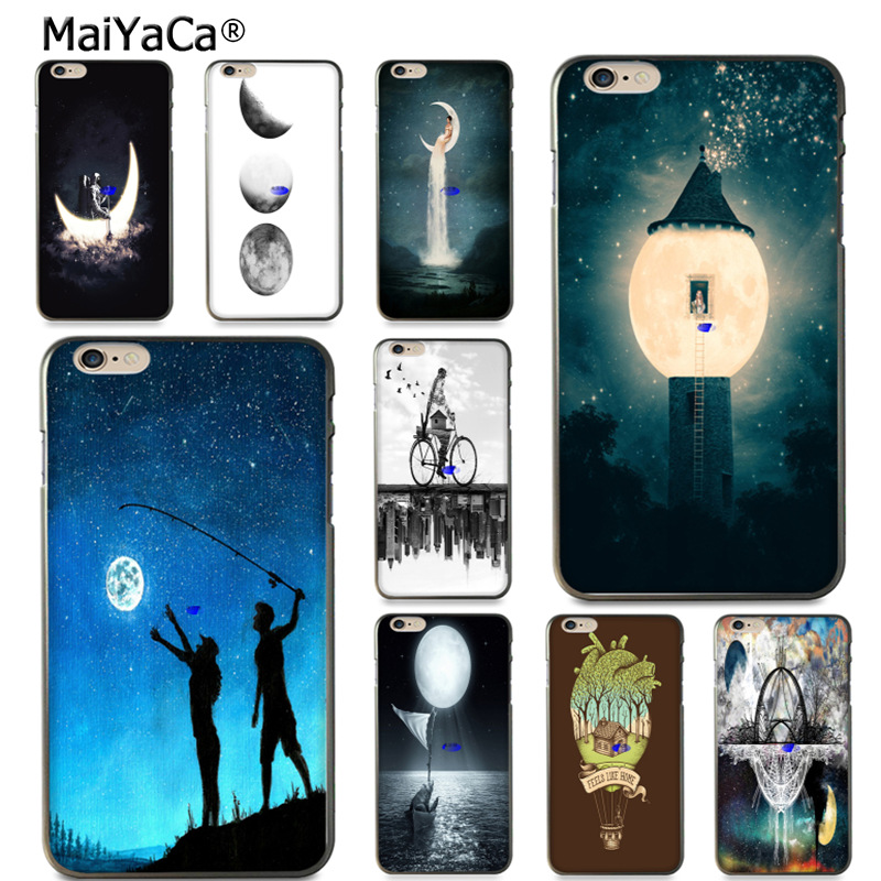 Half-wrapped Case Candid Maiyaca I Like You To The Moon Ultra Thin Cartoon Pattern Soft Tpu Phone Case For Iphone 6s 6plus 7 7plus 8 8plus X 5 5s Case Finely Processed