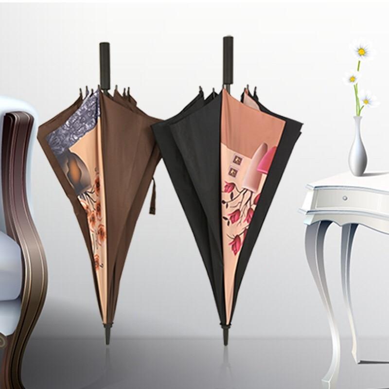 Brand Big Large Long Straight Handle Tulip Flowers Rainy Sunny Umbrella Men Windproof High Quality Car Golf Beach Fishing Gifts