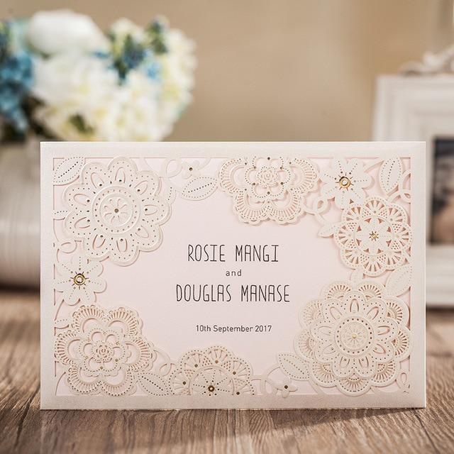 Aliexpresscom Buy 50pcs Wedding Invitation Cards Beautiful Flower