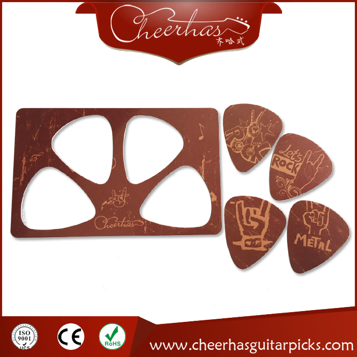 5pcs PVC guitar pick card sheet 0.71mm with full color printing