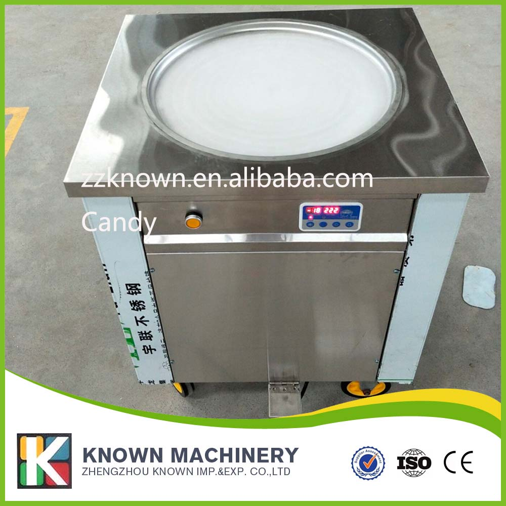 single pan roll fried ice cream machine customized 110V 60HZ/220V 60HZ fry ice pan machines free shiping fried ice cream machine 75 35cm big pan with 5 buckets fried ice machine r22 ice pan machine ice cream machine