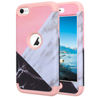For Apple iPod Touch 6 Case Marble Design Hybrid Heavy Duty Shockproof Soft Silicone Back Skin Cover