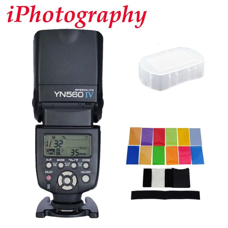 Yongnuo YN560 IV YN560IV Flash Speedlite for Canon Nikon Pentax Olympus DSLR Cameras Gift Kit