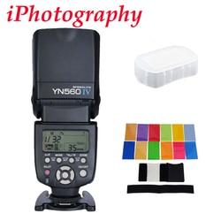 Yongnuo YN560 IV YN560IV Flash speedlite do canona Nikon Pentax Olympus lustrzanki cyfrowe + zestaw podarunkowy w Lampy błyskowe od Elektronika użytkowa na