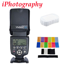 Yongnuo YN560 IV YN560IV فلاش Speedlite لكانون نيكون بنتاكس أوليمبوس كاميرات DSLR + هدية عدة