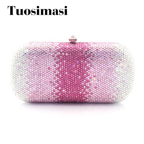 Luxury Shiny Ladies Evening Crystal Clutch Purse Designer Evening Crystal Clutch Bag