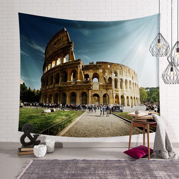 Image 5 - CAMMITEVER Европейский замок, церковный архитектурный гобелен, дом, здание, настенный, декоративная диванная подушка, пляжное одеяло-in Гобелен from Дом и животные