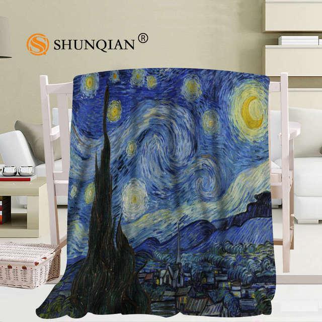 Sternenhimmel Bett benutzerdefinierte gogh sternenhimmel decke manta falafel decke