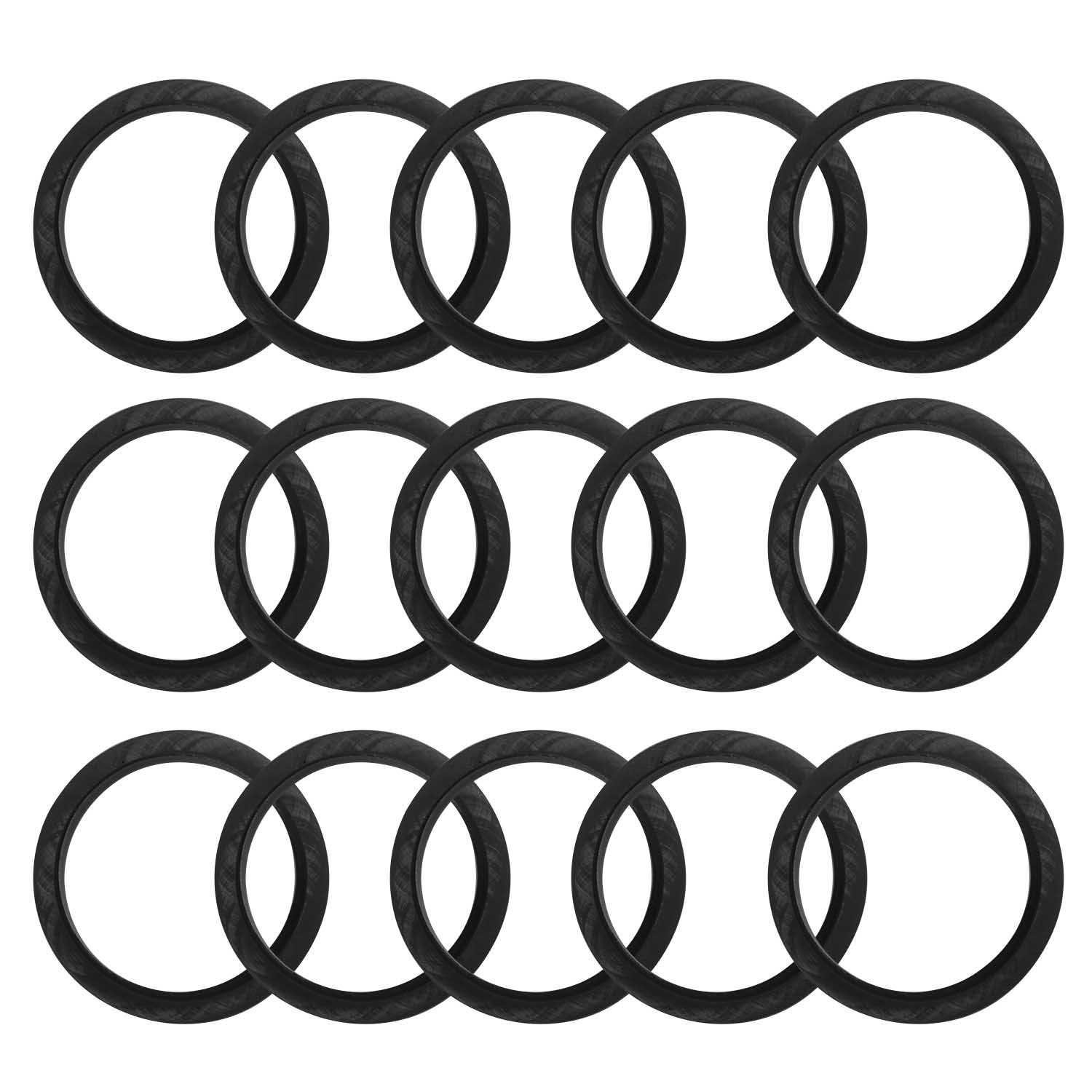 Behogar 50pcs 20mm Replacement Silicone Rubber Seal Ring For Nespresso Machine Stainless Steel Refillable Coffee Capsules Pods