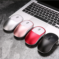 Rechargeable Wireless Mouse with Aluminum Alloy Pad 1600DPI 2.4G Mouse Ergonomic Optical Gaming Mouse for ASUS Lenovo Acer HP