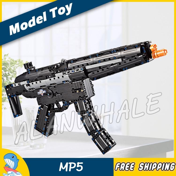 617 pièces Modèle MP5 Shot Gun Arme Pour Militaire Assaut Soldat CS GO Élastique Balle En Plastique Changement de Vitesse Compitable avec lego