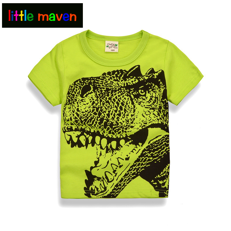 2017 Clearance 2 Pieces Boys T-shirt for 8.68$ Baby Kids Clothes Car Printing 100% Cotton Tops Tees 4,5,6,7,8,9 Years