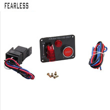 Car modified carbon fiber panel ignition one button start switch multi-function racing power off