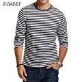 E-BAIHUI marca Outono Casual Camisa Listrada T Homens Manga Longa T Camisas Slim Fit Mens Roupas Tendência dos homens Cobre T CT067