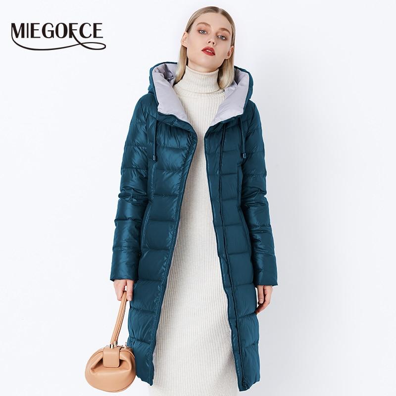 MIEGOFCE 2019 Coat Jacket Women s Hooded Warm Parkas Bio Fluff Parka Coat Hight Quality Female