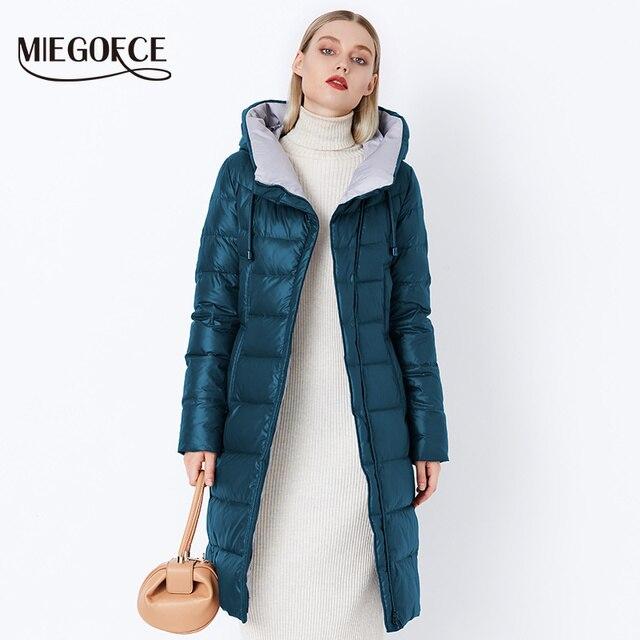 MIEGOFCE 2018 Jas vrouwen Hooded Warme Parka Bio Pluis Parka Jas Hight Kwaliteit Vrouwelijke Nieuwe Winter Collectie Hot