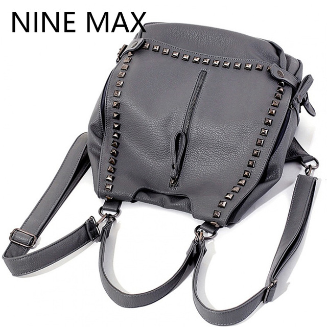 New Stylish 2 Way Daypacks Women Shoulder Handbags Large PU Leather Two Use  Double Shoulder Bag b1a7e27563061