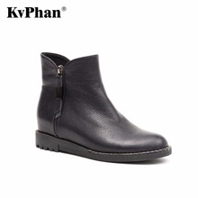 KvPhan Casual Winter Ankle Warm Boots Double Side Zipper Low Heels Short Plush Snow Female Boots Women High Quality Woman Shoes