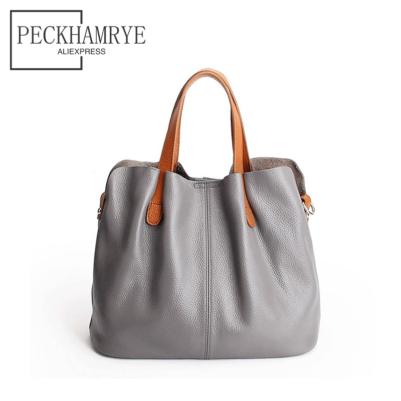 2018 New Fashion Genuine Leather Bag for Women Luxury Brand Designer Real Leather Handbags Ladies Casual Shoulder Messenger Bags ladies genuine leather handbag 2018 luxury handbags women bags designer new leather handbags smile bag shoulder bag