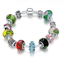 Kolory Koraliki ładne bransoletki bransoletki charms bezpieczne łańcuszki 925 h010 Holloween Christmas gift style Letnie Brand new