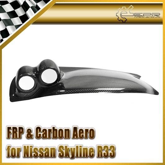 For Nissan Skyline R33 Carbon Fiber Dash Mount Double Gauge Pod (RHD)