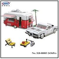IN STOCK XingBao 08003 2436Pcs New Creative Series The MOC Camper Set Children Educational Building Blocks Bricks Toys Model