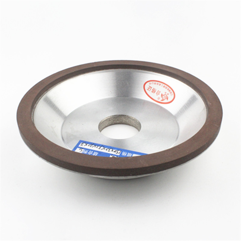 150mm CBN bowl shape resin bond diamond abrasive grinding wheel for tungsten carbide steel grinding and sharpening 6 inch dish grinding wheel resin bond flaring cup abrasive wheel for tungsten carbide sharpening abrasive tools r013