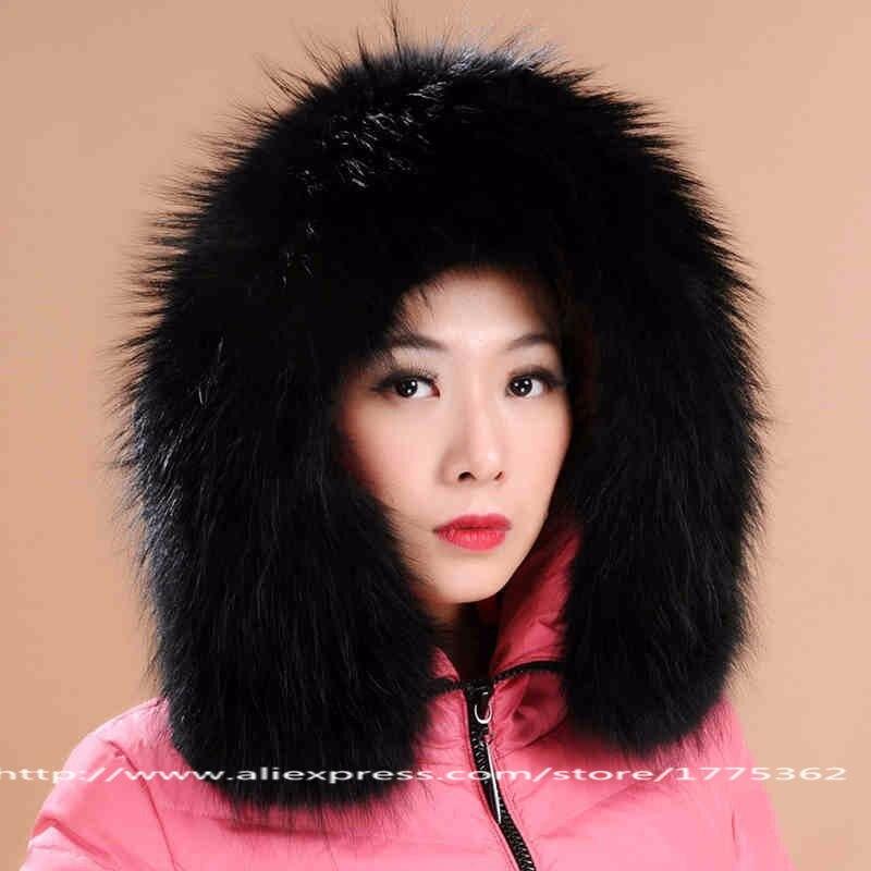 Raccon Fur Collar Raccoon Cap Collars With Autumn Winter Warm Collar Jacket Cotton-Padded Clothes Coat Hoode Collars S#01 fur contrast color men s cotton coat with hat