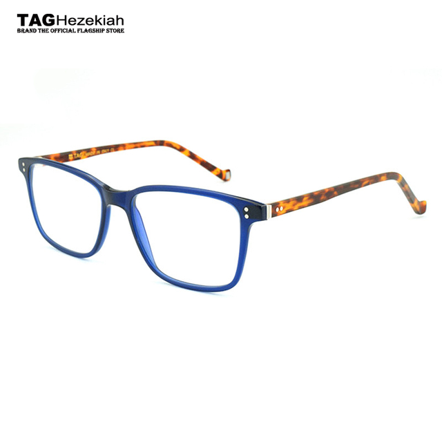 b925f81bcf6 2018 TAG Hezekiah Brand glasses frame women Big box fashion retro designer eyeglasses  frames men prescription