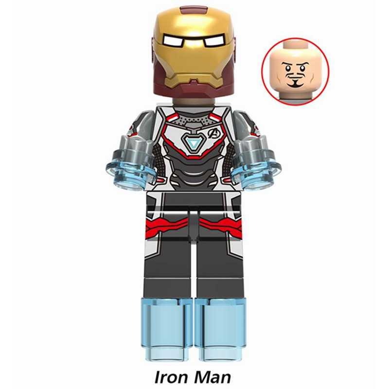Legoing marvel the avengers 4 endgame hulk thanos ironman thor blocos de construção brinquedos para crianças super heróis legoing figuras