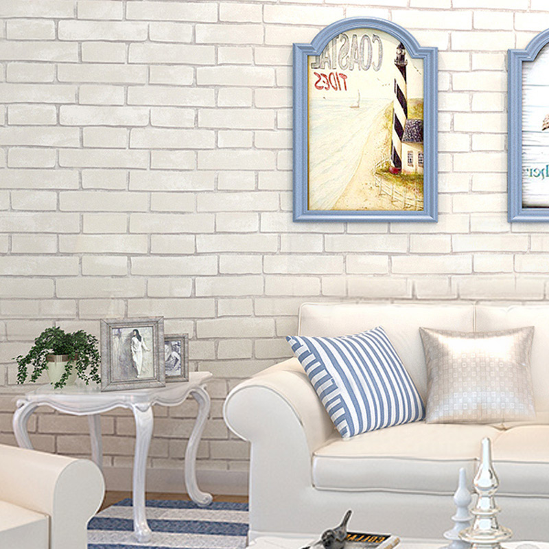 3D Imitation Brick Wallpaper Modern White Brick Wall Paper For Living Room Corridor Clothing Store Non-woven Wall Covering Roll beibehang non woven pink love printed wallpaper roll striped design wall paper for kid room girls minimalist home decoration