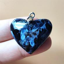 Newly Natural Blue Pietersite Chatoyant Pendant 29x24x8mm Women Men Best Gift Crystal Heart Love Gemstone Fashion Namibia AAAAA