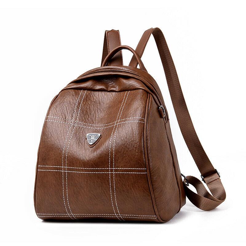 Fashion Women's Backpack PU Leather Plaid Pattern PU Trend School Bag Leisure Travel Shoulder Bag