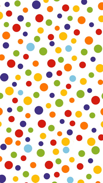 12 Ft Vinyl Cloth Colorful Polka Dots Photography