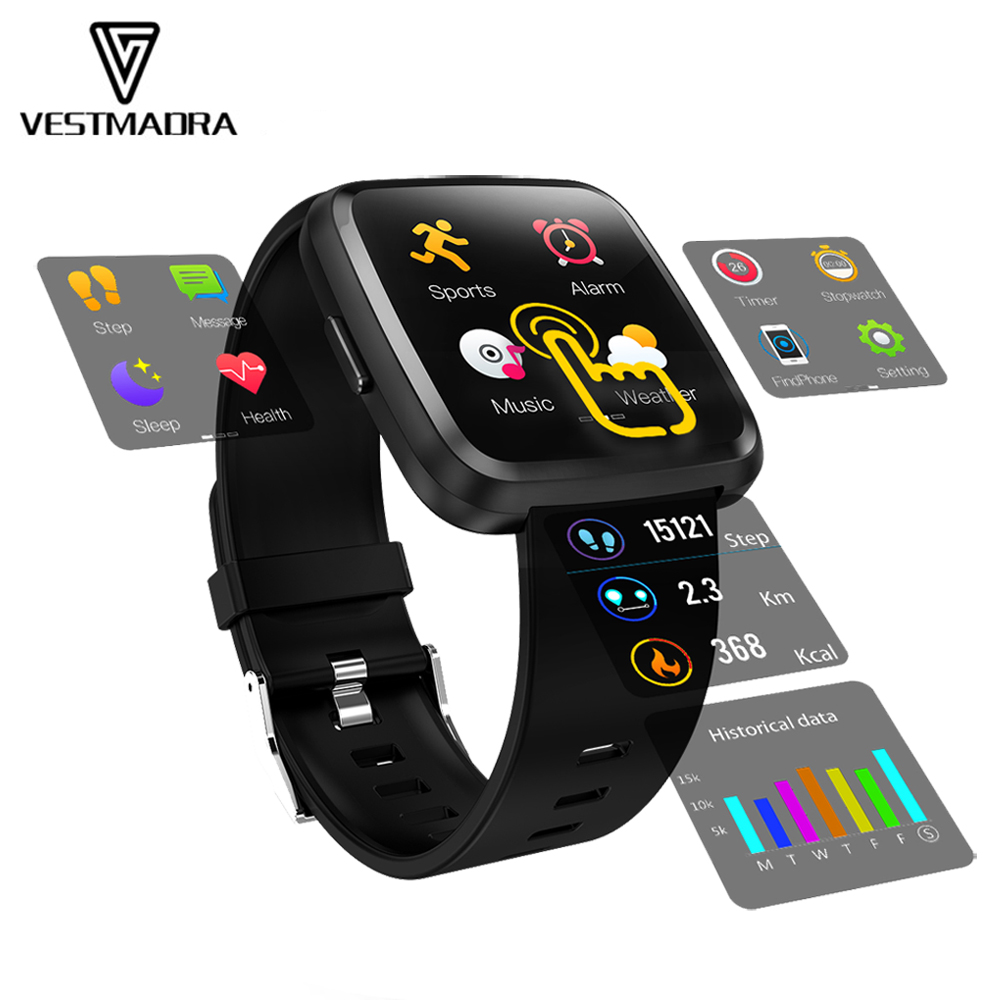 VESTMADRA Y7P Smart Bracelet Android IOS Heart Rate Band Blood Pressure Fitness Tracker Waterproof Color Screen Smart WristbandVESTMADRA Y7P Smart Bracelet Android IOS Heart Rate Band Blood Pressure Fitness Tracker Waterproof Color Screen Smart Wristband