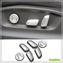 For VW Volkswagen PASSAT B8 2017 2018 ABS Matte Car Seat adjust Button Cover Trim sticker high +low equiped