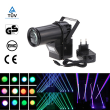 Mini Led Stage Light Rgbw Spotlight Beam Dmx Laser Projector 10W 6 Channel Portable Pinspot Lamp
