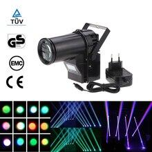 Mini Led Stage Light Rgbw Spotlight Beam Dmx Laser Projector 10W 6 Channel Portable Pinspot Lamp Dmx512 Dj Disco Ball Stage Lamp