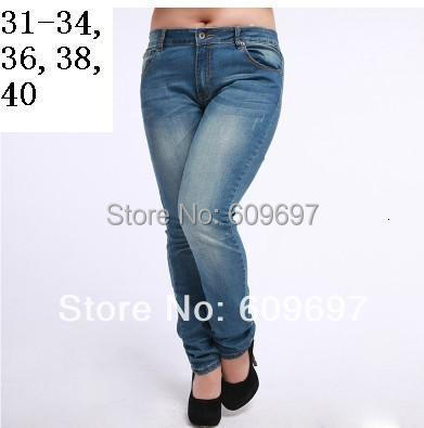 ad0b8c0b98a Plus Size 32 40(Waist 40 inches) Women s Jeans New Fashion Spring Autumn  Style Female casual pants Women s Trousers Pants