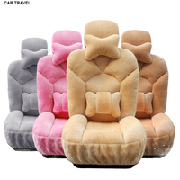 Front Back Faux Fur Car Seat Cover Set For 98 Cars Model Automobiles Seat Covers Car