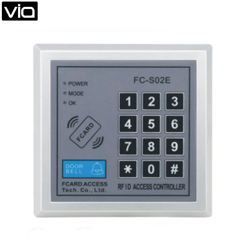 FC-S02E Free Shipping RFID Proximity Entry Door Lock Integrated Circuit Password+ 125KHZ RFID EM Access Control System m f100 fingerprint rfid proximity entry lock door control securtiy systems access control hot sale