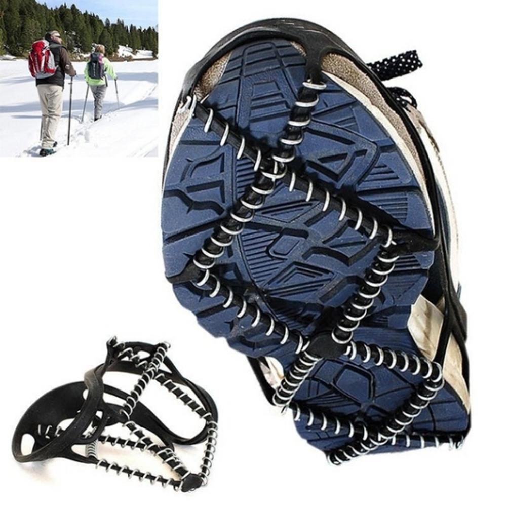1Pair  Ice Snow Route Camping Outdoor Sports Shoe Cover Non-slip Crampons Ice Grip Walk Traction Cleats Ice Crampon Shoe Covers