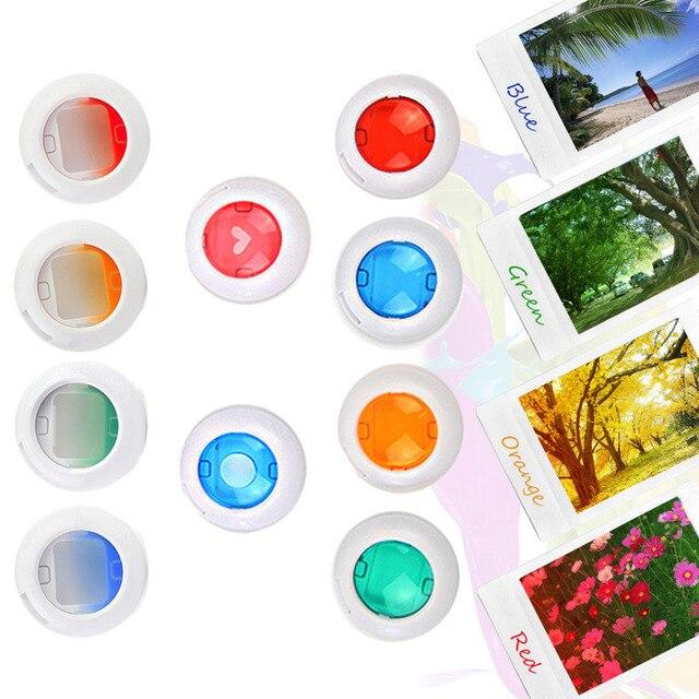 SUNNYLIFE 10PCS מגוון צבעים מקרוב צבע עדשת מסנן סט עבור Fujifilm Instax מיני 8 8 9 7s kt מיידי סרט מצלמה גאדג טים