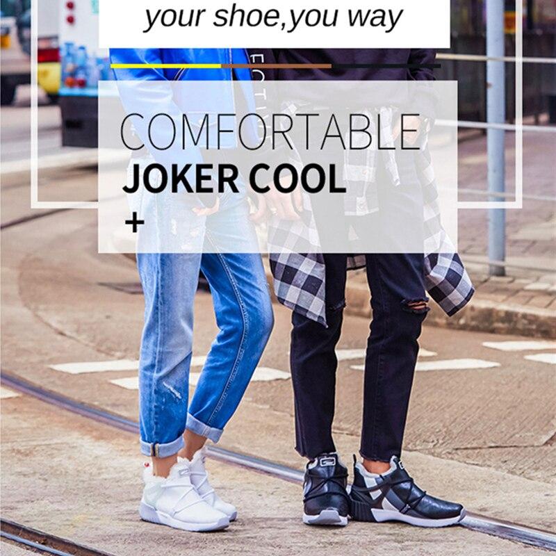 Мужские зимние теплые ботинки для мужчин, высокая Длинная шерстяная прогулочная обувь для бега, уличные кроссовки с утепленной стелькой, трендовые спортивные кроссовки, спортивные кроссовки - 3