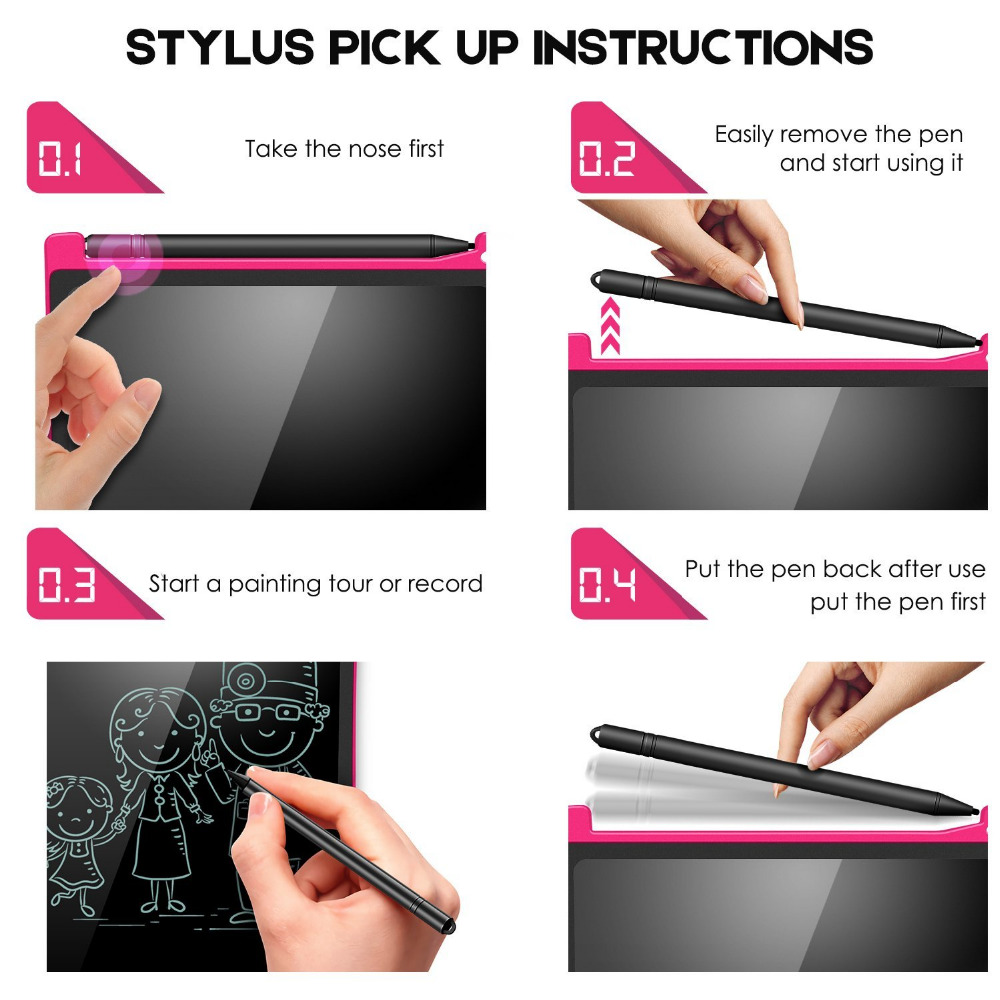 NEWYES zeleni LCD pisanje tableta 8.5 inčni elektronički crtež - Prijenosni audio i video - Foto 5