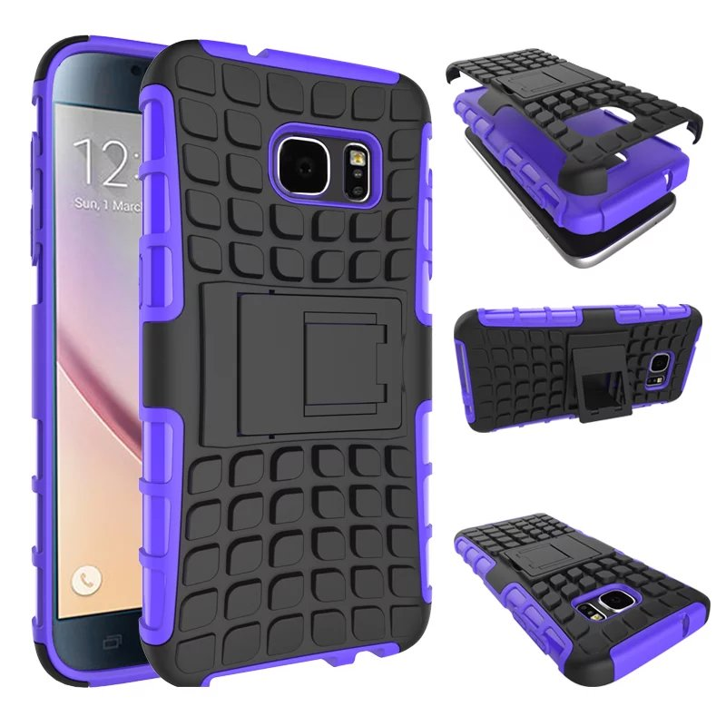 Heavy Duty Armor Shockproof Hybird For Samsung Galaxy S3 S4 S5 S6 S7 edge A3 A5 A7 J5 J7 J1 2016 Hard Rugged Rubber Case Cover +
